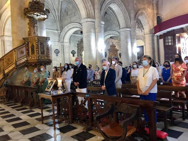 Concha Alarcón durante el septenario a la Virgen del Mar.
