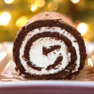 Chocolate Swiss Roll Cake (Grain-Free, Paleo).