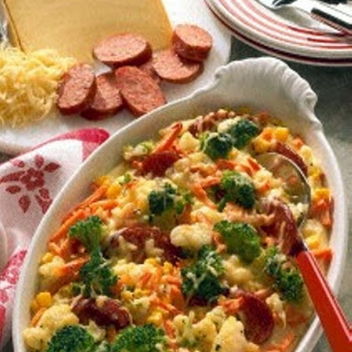 Gemüseauflauf mit Cabanossi
