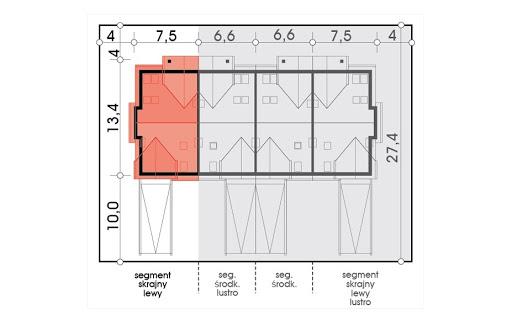Mozaika segment skrajny lewy - Sytuacja