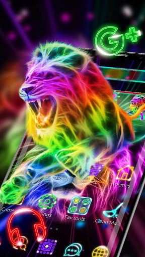 Neon Lion Cool Theme Download Apk Free For Android Apktume Com