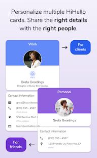 HiHello: Contact Exchange Screenshot