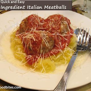 Five Ingredient Italian Meatballs