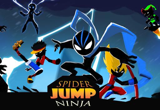 Spider Ninja Jump: The shadow