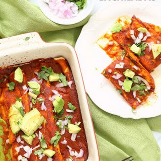 Vegan Enchiladas Recipe with Lentils and Black Beans