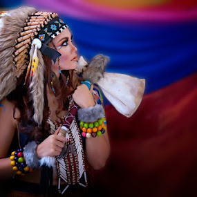:: Sense Of Colours: Rainbow Mist, An Indian Girl :: by Andi Ilham - People Portraits of Women