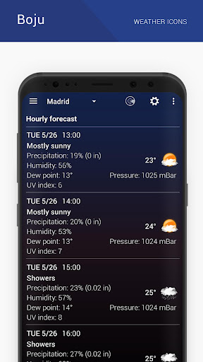 Boju weather icons 1.00.06 screenshots 6