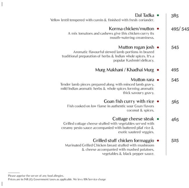 Master Of Malts menu 15
