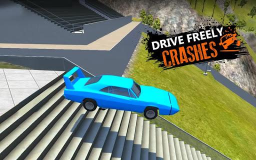 Car Crash Beam  Drive Sim: Death Stairs Jump Down 1.2 screenshots 1