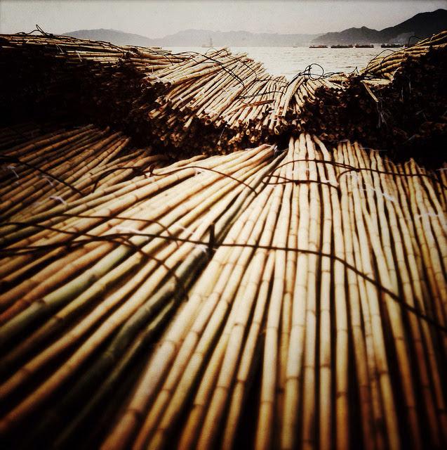 Hong Kong, Bamboo Scaffolding,  香港, 竹棚