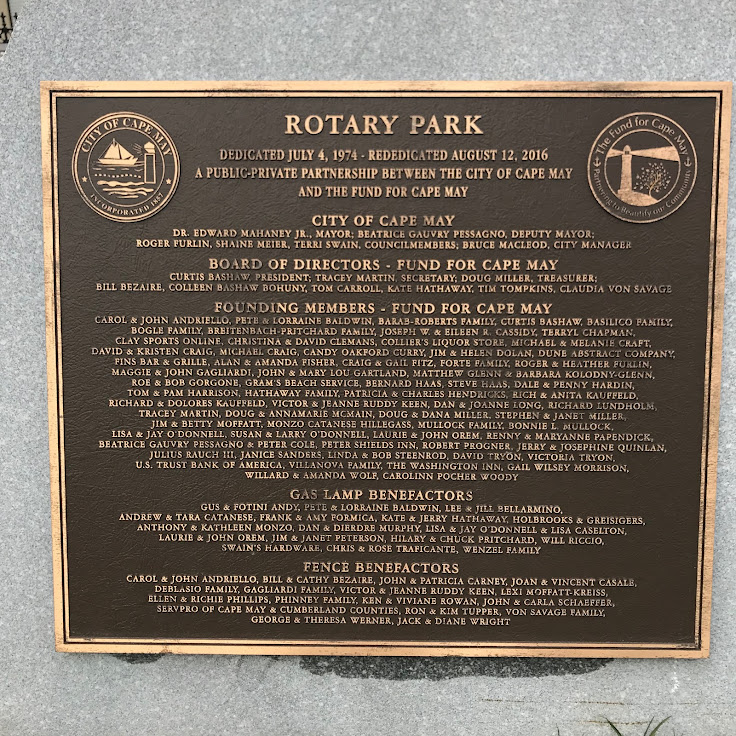 Historic markers are all over Cape May.