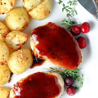 Cranberry Balsamic Glazed Pork Medallions.