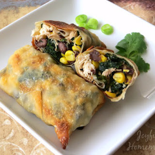 Baked Chicken & Spinach Egg Rolls.