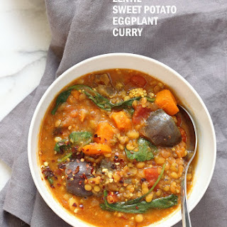 Instant Pot Sweet Potato Lentil Curry.