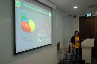 Photo: JM gives his presentation
