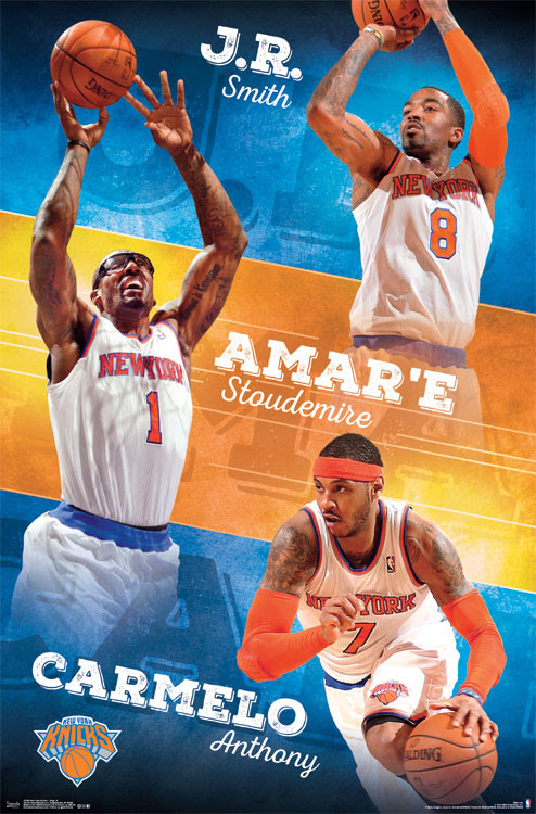 ... Stoudemire Carmelo Anthony New York Knicks NBA Poster 22 x 34