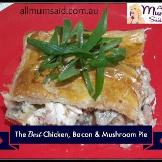 Bacon, Chicken and Mushroom Pie