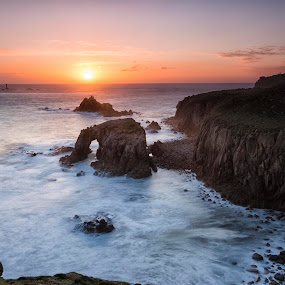 Land's End Cornwall  by Helen Quirke  - Landscapes Sunsets & Sunrises ( england, seascape, cornwall, sunset, land's end,  )