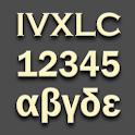 Decimal/Latin/Greek, Numerals Conversion icon