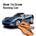 How To Draw Racing Car icon