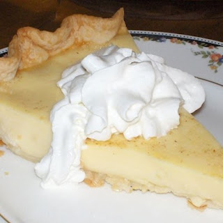 Grandma's Egg Custard Pie.