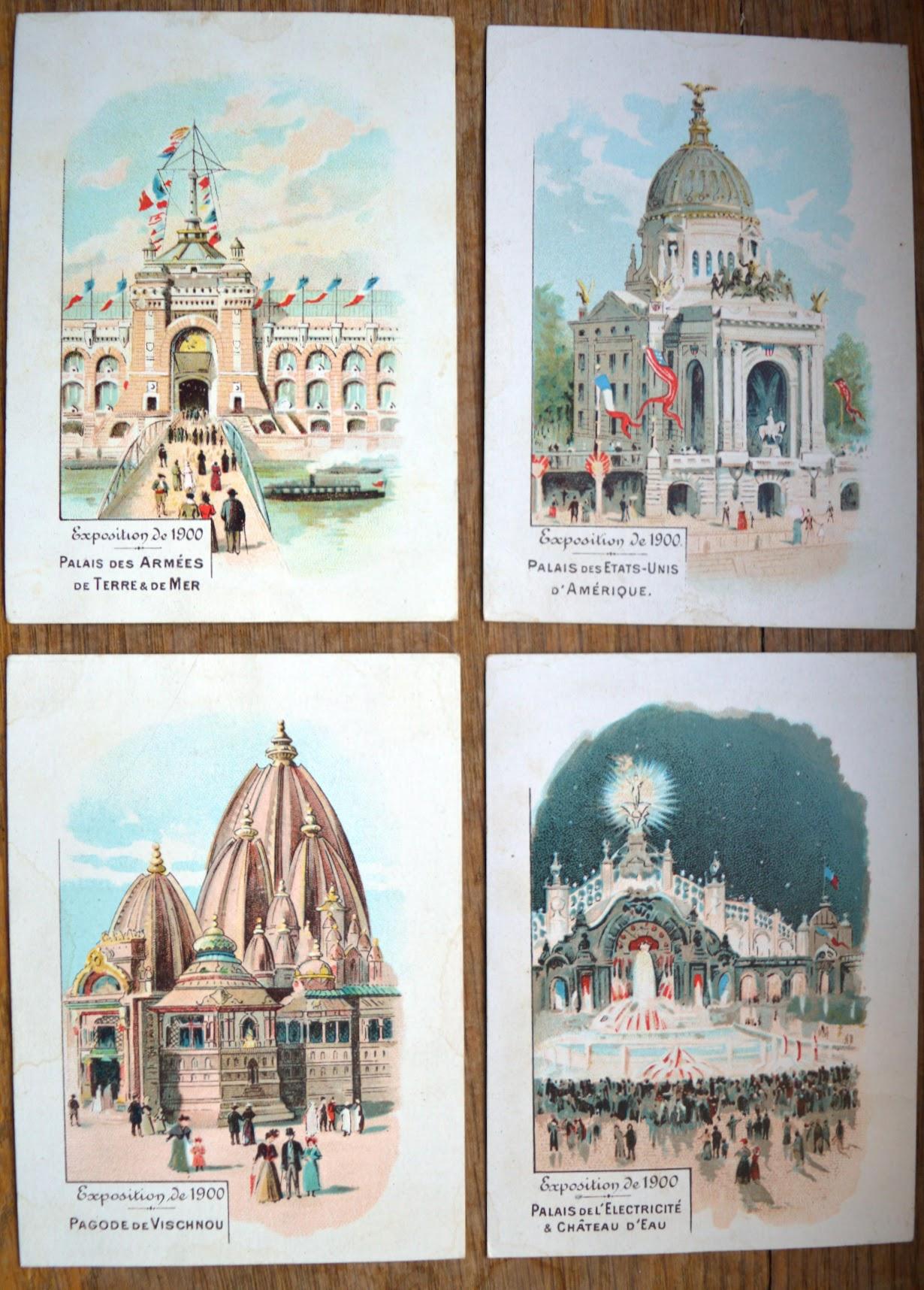 Weltausstellung 1900 Chromos