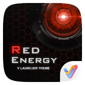 Red Energy V Launcher Theme