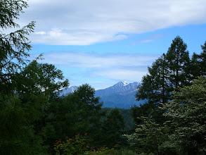 赤石岳(中央)と聖岳(左)