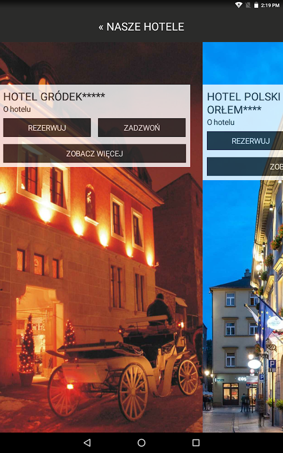 Donimirski Hotels in Krakow- screenshot