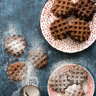 Double Chocolate Mint Waffle Cookies