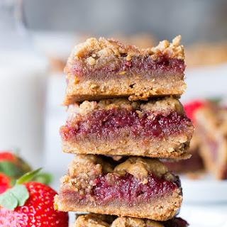 Almond Butter & Jelly Cookie Bars {Paleo & Vegan}.