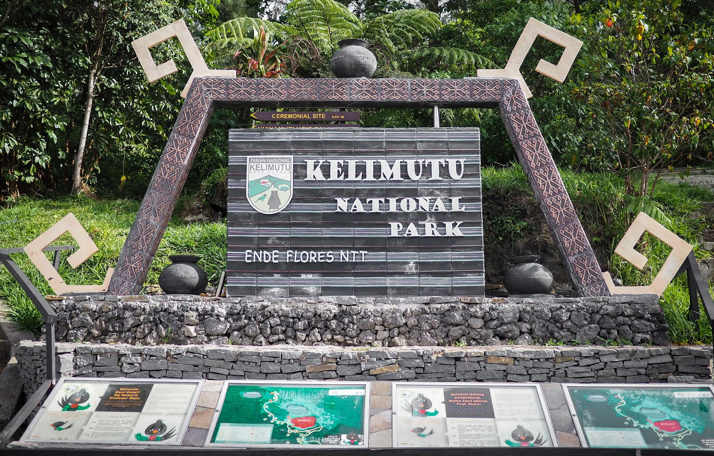Kelimutu Park Entrance