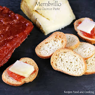 Membrillo (aka Quince Paste) with Manchego Cheese.