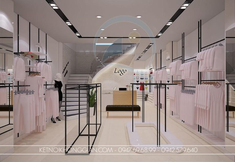 thiết kế shop thời trang nữ hài hòa