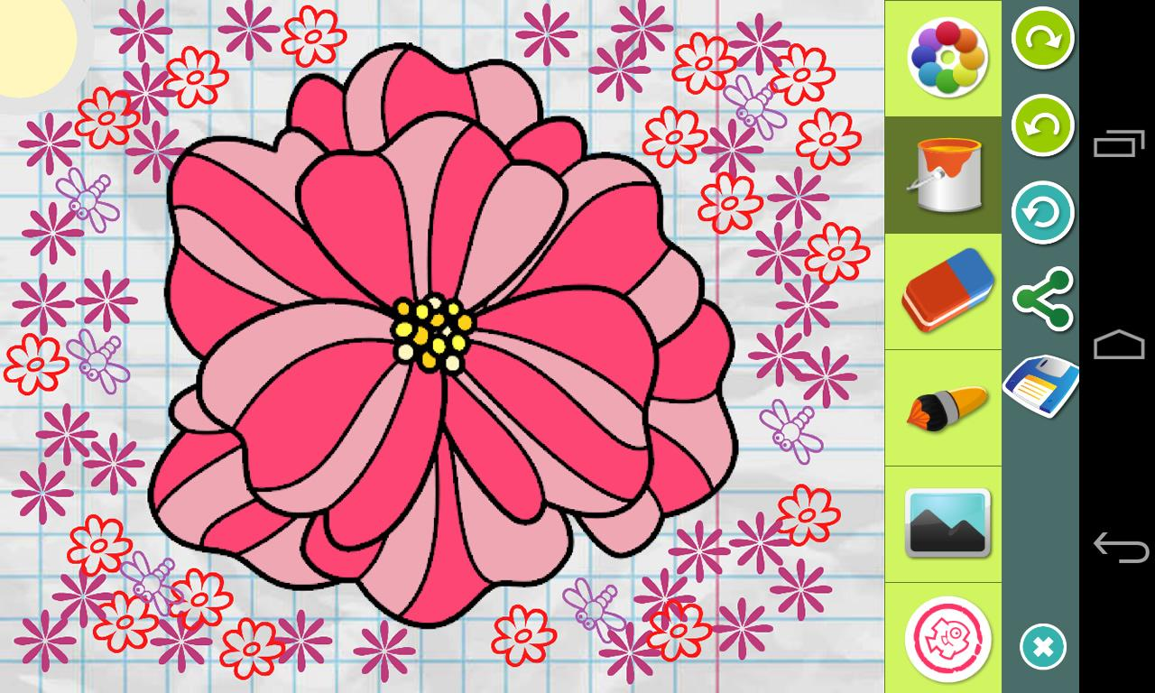 flowers coloring pages android apps on google play
