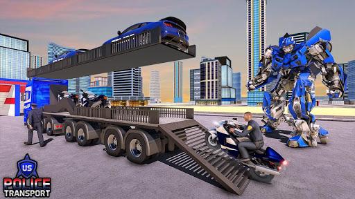 NOUS Police Transformed Robot - Police Avion  captures d'u00e9cran 2
