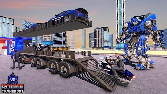 US Police Robot Transform – Police Plane Transport 2