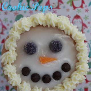 Christmas Snowman Cookie Pops Recipe