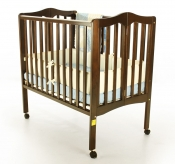 2-in-1 Folding Portable Crib in Espresso - 681E