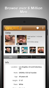 GROWLr: Gay Bears Near You- screenshot thumbnail