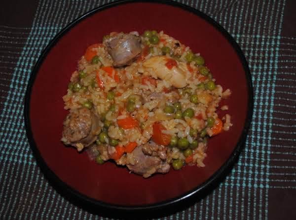 Chicken & Sausage Paella Recipe