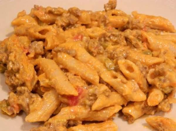 Beefy Salsa Macaroni And Velveeta Cheese Recipe