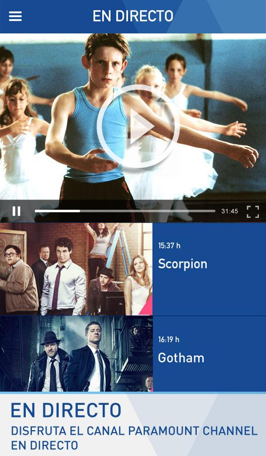 Paramount Channel: captura de pantalla