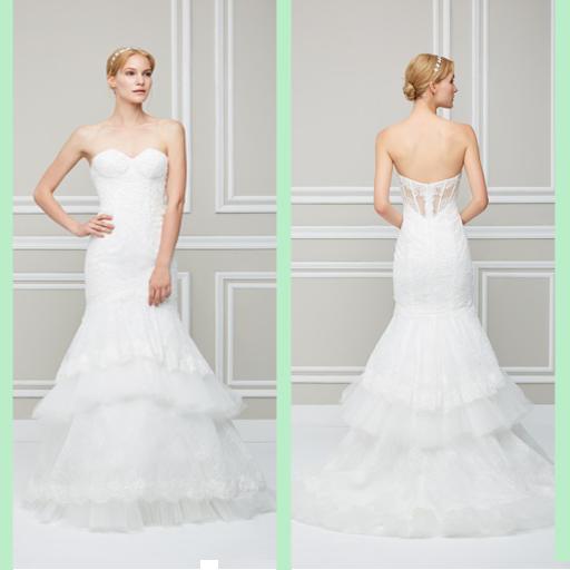 2016ウェディングドレスのモデル2