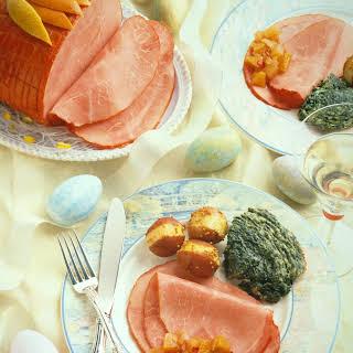 Ham with Peach Chutney.