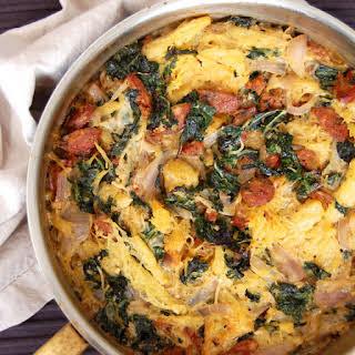 Sausage and Kale Pasta Casserole.