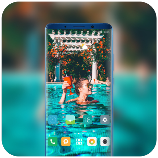 Theme for cool summer swimming pool wallpaper icon