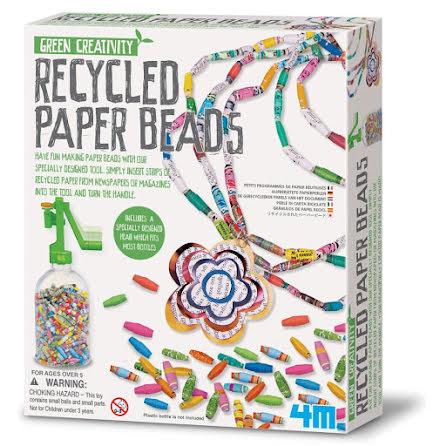 Pärlpyssel - tillverka pärlor av papper