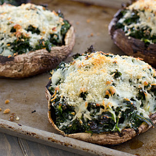Kale-Stuffed Portabella Mushrooms.