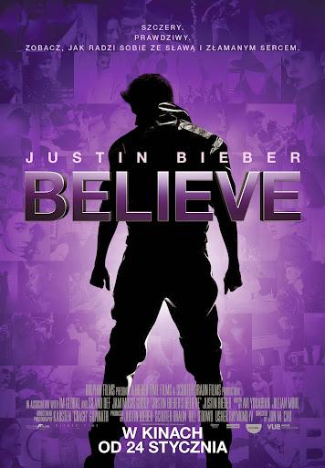 Polski plakat filmu 'Justin Bieber's Believe'
